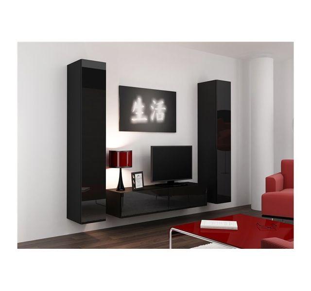 ba0824d4b5a32d CHLOE DESIGN Meuble tv design suspendu VINI - noir