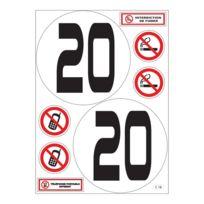 Mygoodprice - Planche A4 de stickers limitation vitesse 20 km/h camion bus autocollant - C18