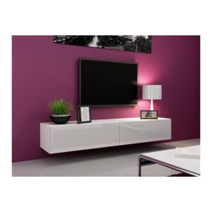 chloe design meuble tv design suspendu vito 180cm blanc pas cher achat vente meubles tv. Black Bedroom Furniture Sets. Home Design Ideas