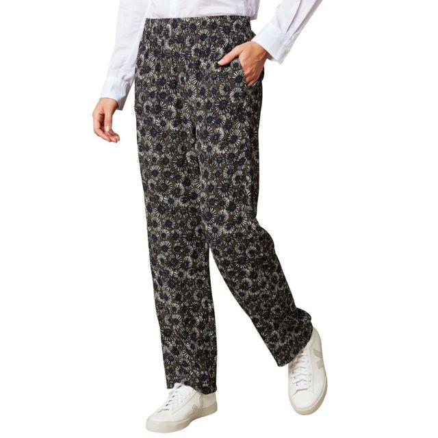 Hartford Pantalon Fluide Imprimé Prunelle