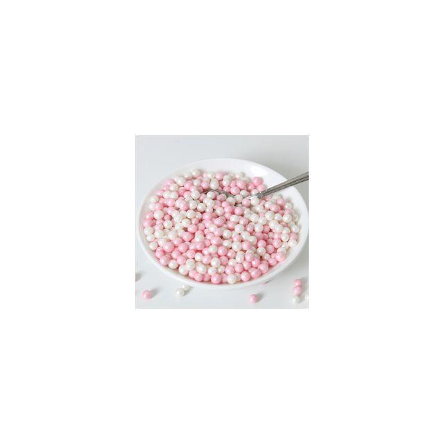 Funcakes Perles coeur tendre rose blanc