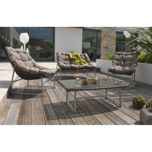Dcb garden salon de jardin 4 places en inox et r sine for Dcb garden salon de jardin