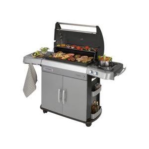 campingaz barbecue gaz 3 br leurs 1 r chaud 70x40cm gril plancha chariot acier 3 series. Black Bedroom Furniture Sets. Home Design Ideas