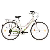 Ks Cycling - Vélo de ville femme 28'' Papilio blanc Tc 48 cm