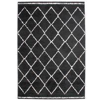 Mon Beau Tapis - Tapis ethnique motifs berbères noir 133x190cm Florence Beni Look