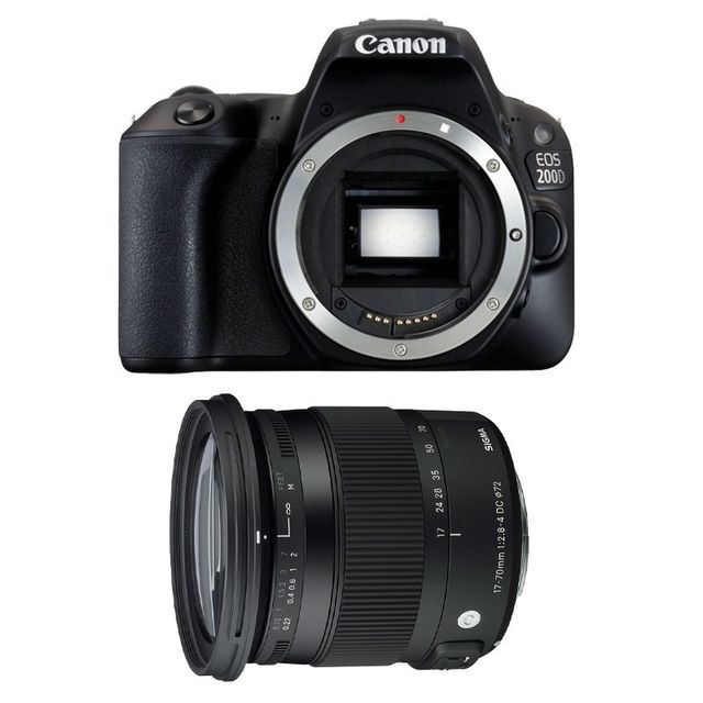 Canon Eos 200D + Sigma 17-70mm F2.8-4 Dc Macro Os Hsm Contemporary Garanti 3 ans