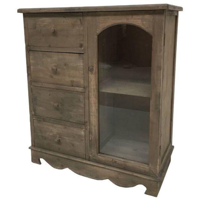 Chemin de campagne meuble bahut confiturier buffet vaisselier commode en bois pas cher achat - Meuble confiturier ...
