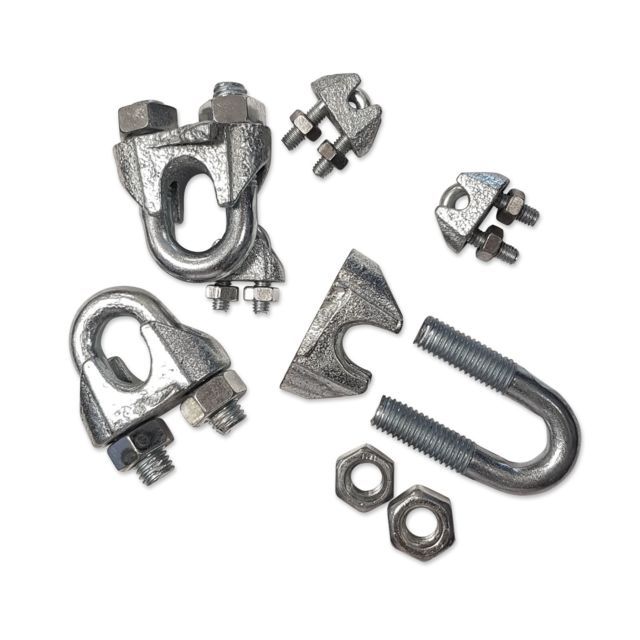 Lot de 20 serre-c/âbles en acier galvanis/é pour c/âbles en acier de 3 /à 13 mm