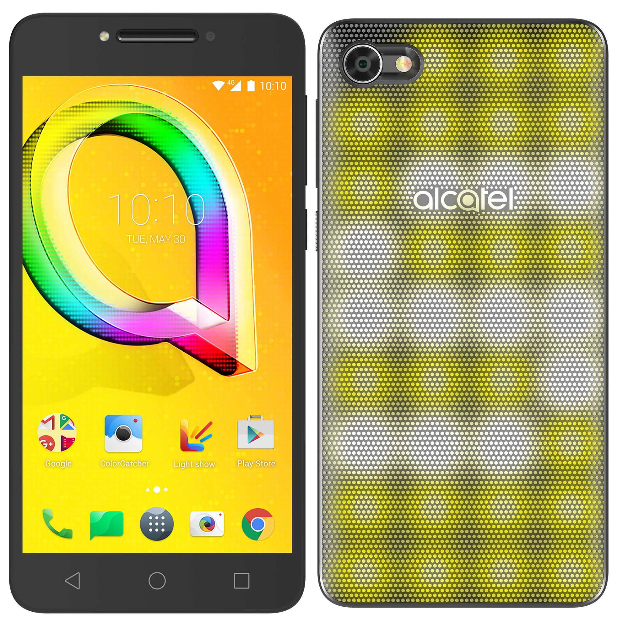Smartphone A5 LED Alcatel Noir Métallique