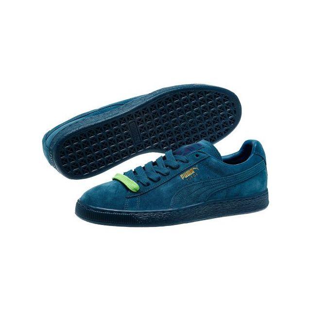 taille 40 15a4b ad76a Puma - Chaussures Suede Bleu Corail Mono Iced Basket - pas ...