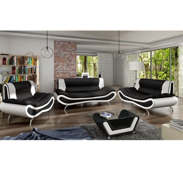 Chloe Design Table Basse Design Ori Noir Et Blanc 80cm X 45cm X