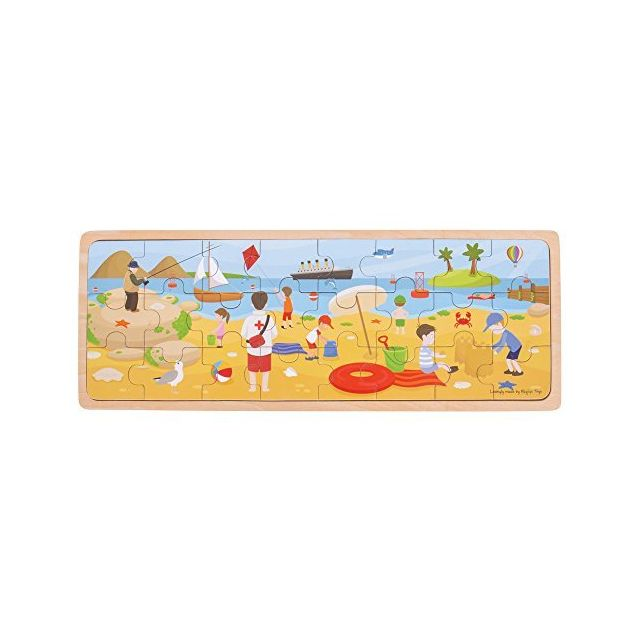 Bigjigs Toys at The Seaside Puzzle - Tray Puzzle Multicolored