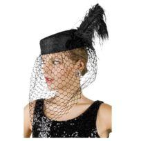 ef95d430149ae Sans - Coiffe de Veuve Noire Adulte - Chapeau Déguisement Femme Fête  Carnaval - 296