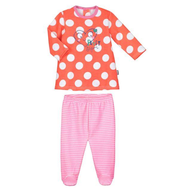 96f1c66b12754 Petit Beguin - Pyjama bébé 2 pièces avec pieds Illico - Taille - 12 mois