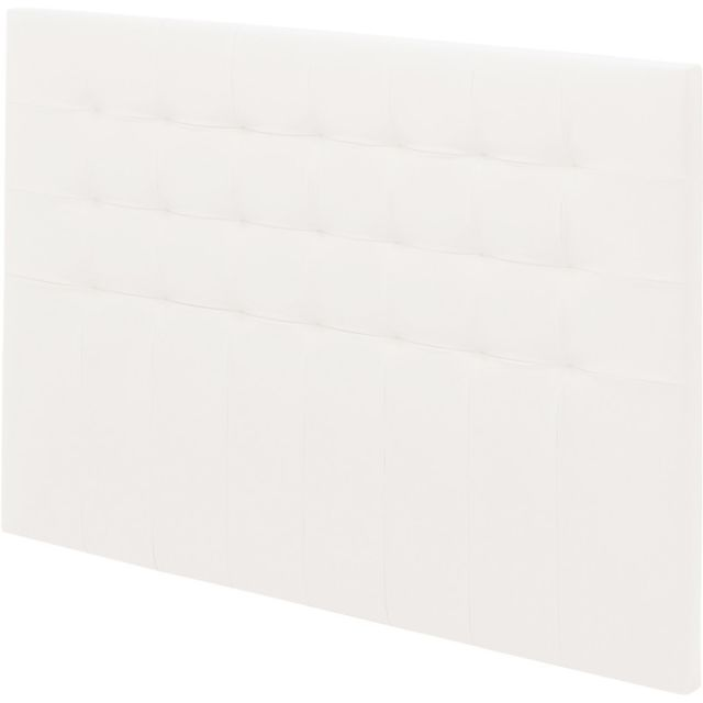Ebac Tete de lit Charme capitonnée simili Blanc L. 150