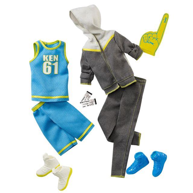 00e95f60bd5 Barbie - Mattel - Accessoire Poupee - Ken Coffret Tenues De Sports - Short  Maillot Jogging Et Basket - pas cher Achat   Vente Poupées - RueDuCommerce