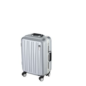 CARREFOUR - LUXE - Valise Polycarbonate - 4 roues - 57 cm - Gris - JY8237 - PCLUXE56 46.8