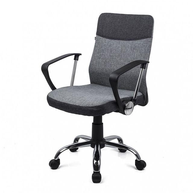Homekraft davik chaise de bureau ergonomique confort support du dos gris