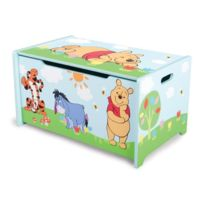 Delta Children - Winnie L'OURSON Coffre a jouets en bois