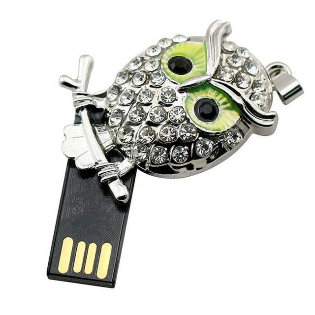 64GO USB 2.0 Clé USB Clef Mémoire Flash Clé USB Bling Pendentif Croix Or
