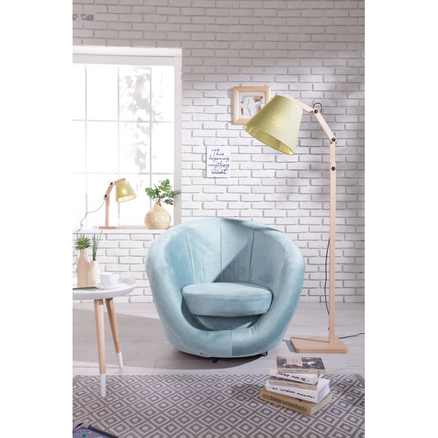 BOBOCHIC Fauteuil OVO velours turquoise