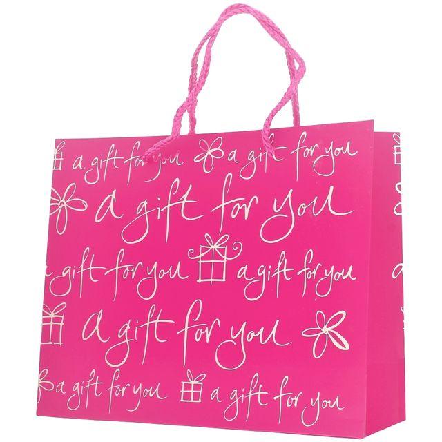 promobo - sac emballage cadeau plaisir d'offrir avec poignée tissu