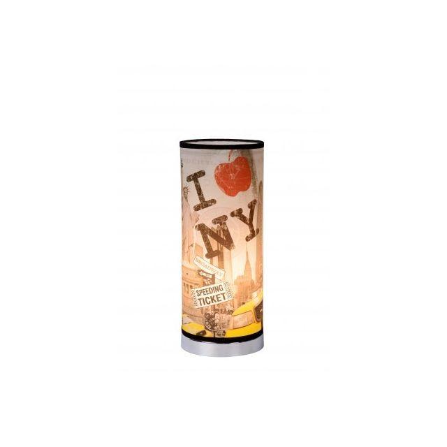 Lucide N.Y Bronx - Lampe De Table - D15 cm - Multicolor