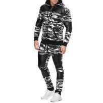 Violento - Survêtement jogging homme sportswear Ensemble 700 blanc camo