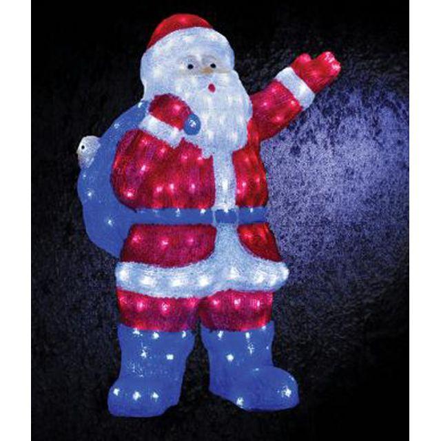 Pere Noel Led Pegane   Père Noël lumineux Blanc froid 240 Led   Dim : L.50,5 x l