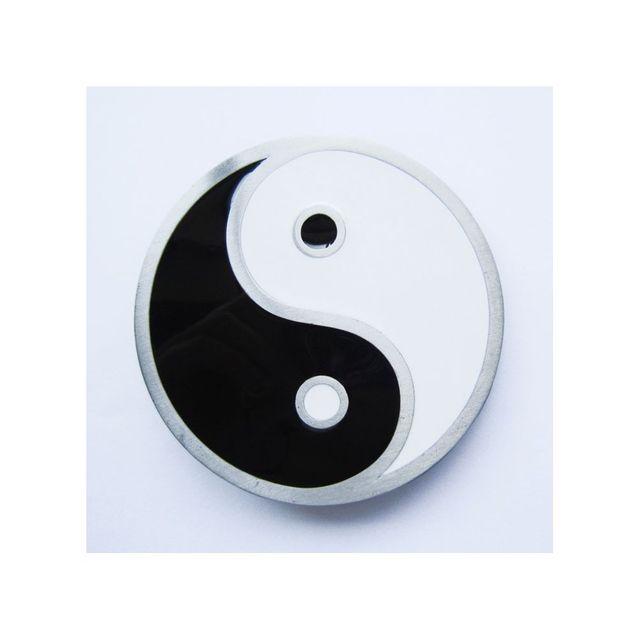 Universel - Boucle de ceinture yin yang noir blanc homme femme - pas ... 3490e1dc285