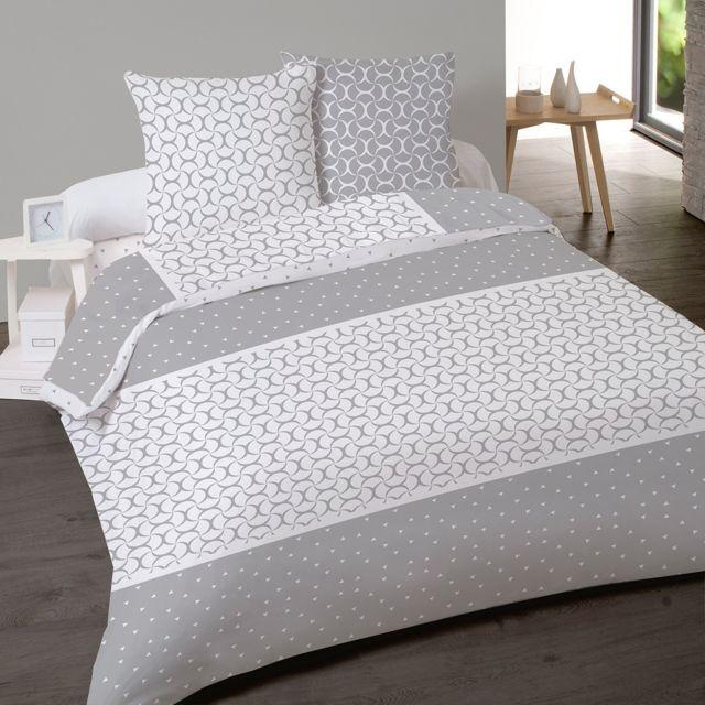 les douces nuits de ma housse de couette 240x260 duo 2 taies 100 coton flanelle. Black Bedroom Furniture Sets. Home Design Ideas