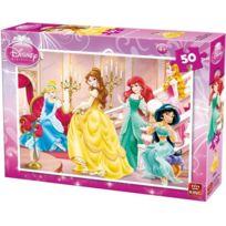 KING - Puzzle Disney 50 Pieces Les Princesses Dans Le Palais