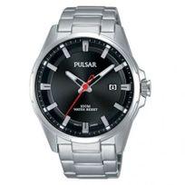 Pulsar - Montre Homme modèle Sport Noire et Argentée - Ps9509X1