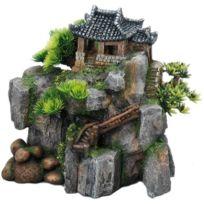 Aquadella - Aqua Della Décor Korean-Cottage - 23x13.5x22cm - Pour aquarium