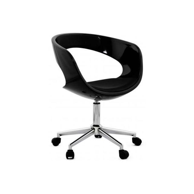 Kokoon Design Chaise de bureau noire Pivotante Aussi