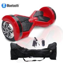 COOL AND FUN - COOL&FUN Hoverboard, Bluetooth gyropode 8 pouces Rouge Noir