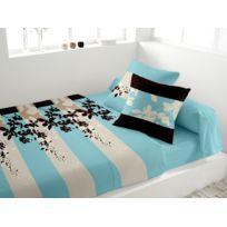Eden - Parure de lit en percale Panache turquoise