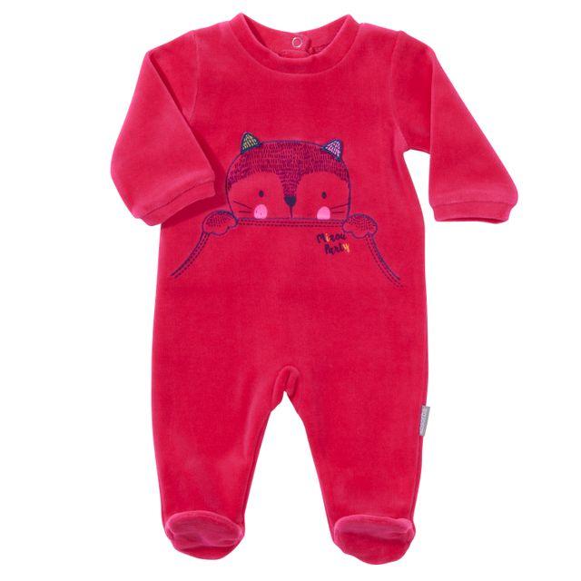 ABSORBA - Pyjama bébé MIAOU PARTY en coton fuchsia - 24