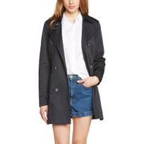 Only - Trench Femme Rebel Blue Graphite