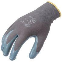 Sacla - 10 paire de Gants nylon enduits nitrile gris T 10