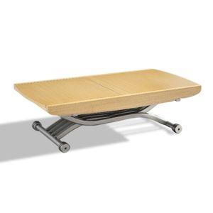 inside 75 table relevable lift ch ne clair extensible en table repas 8 couverts natural. Black Bedroom Furniture Sets. Home Design Ideas