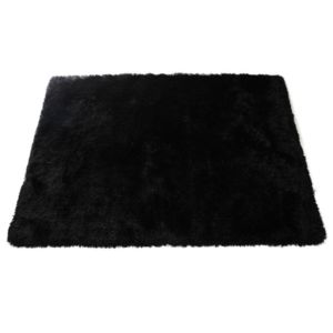 Miliboo tapis shaggy noir 160x230 cm ugo pas cher achat vente tapis r - Tapis shaggy noir pas cher ...