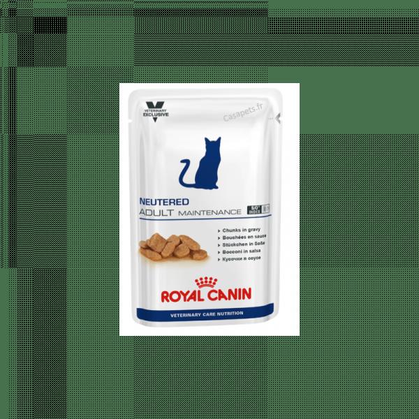 Royal Canin Bouchées en sauce pour chats Veterinary Care Nutrition Adulte Maintenance 12 sachets 100 g