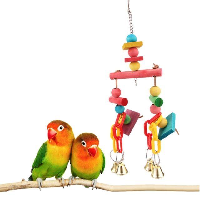 Wewoo Jouet pour morsure en corde coton avec oiseau