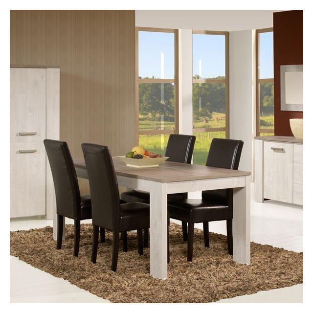 Tousmesmeubles Table de repas 190 cm - Humy - L 190 x l 88 x H 75