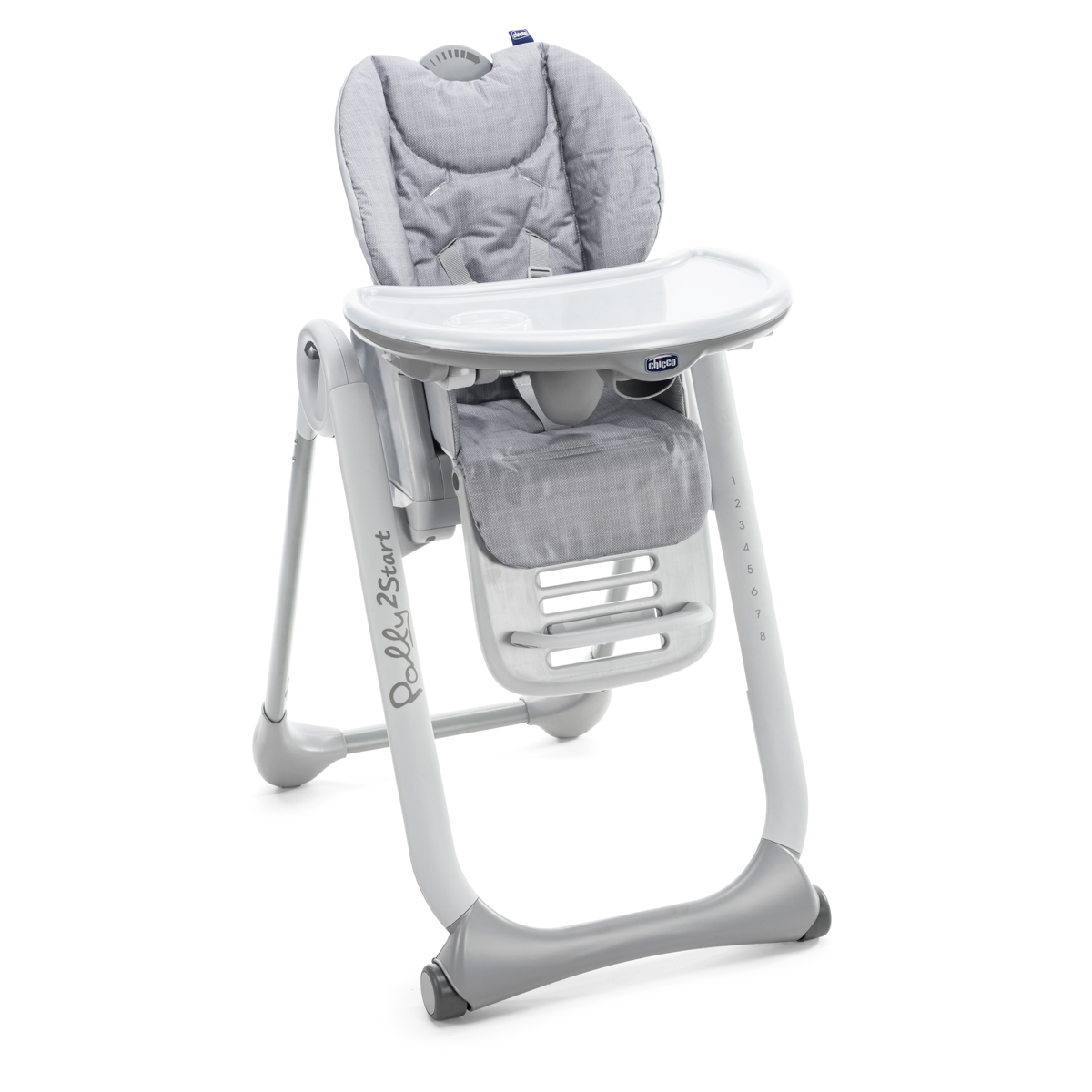 Chaise Haute Polly 2 Start - Happy Silver