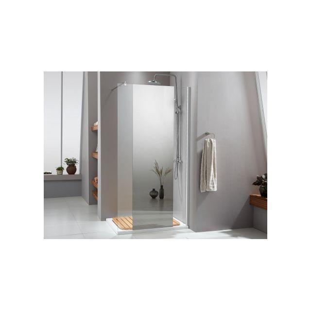 marque generique paroi de douche l 39 italienne vanessa avec miroir 90x200 cm pas cher