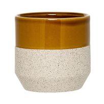Bloomingville - Cache Pot en Grès 11 cm Sable/Curry