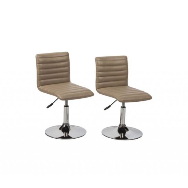 2 Chaises de cuisine salon salle à manger design hauteur réglable ...