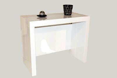 giovanni table console extensible milano blanc with. Black Bedroom Furniture Sets. Home Design Ideas
